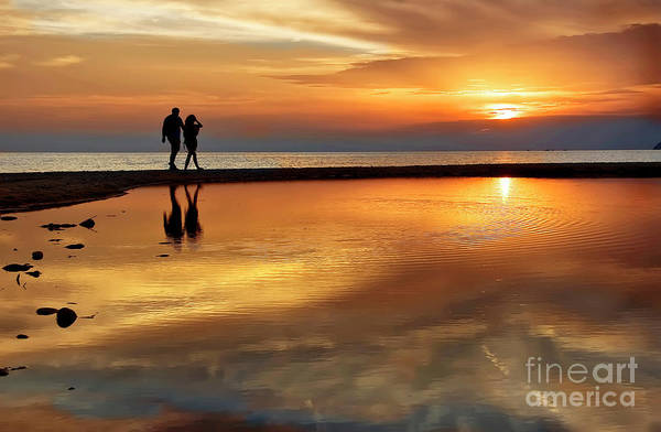 Photograph - Orange Sunset   by Daliana Pacuraru