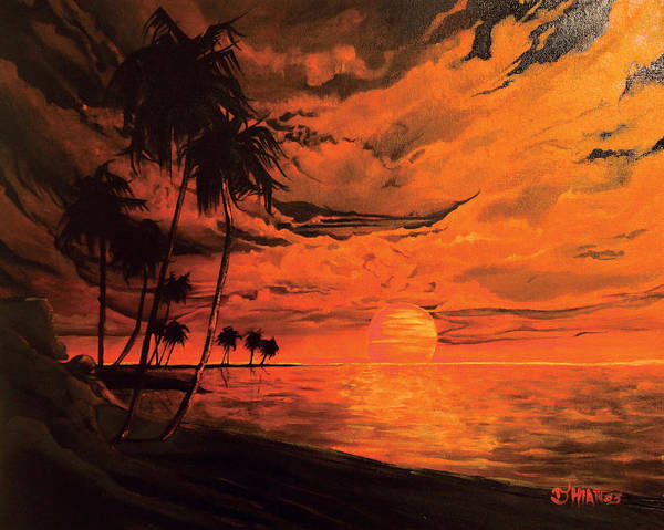Painting - Orange Sunset by Jhiatt