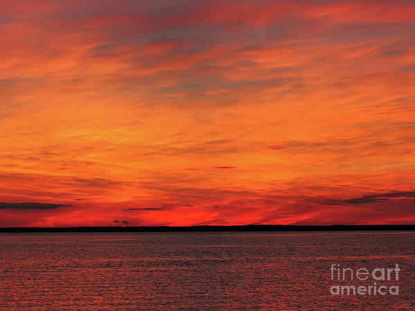 Photograph - Orange Sunset On The New Jersey Shore by Jeff Breiman