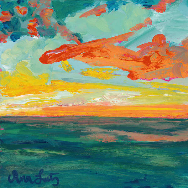 Wall Art - Painting - Orange Surprise by Ann Lutz