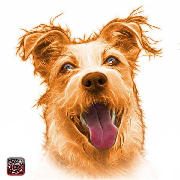 Painting - Orange Terrier Mix 2989 - Wb by James Ahn