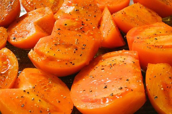 Photograph - Orange Tomatoes Ready To Roast by Polly Castor