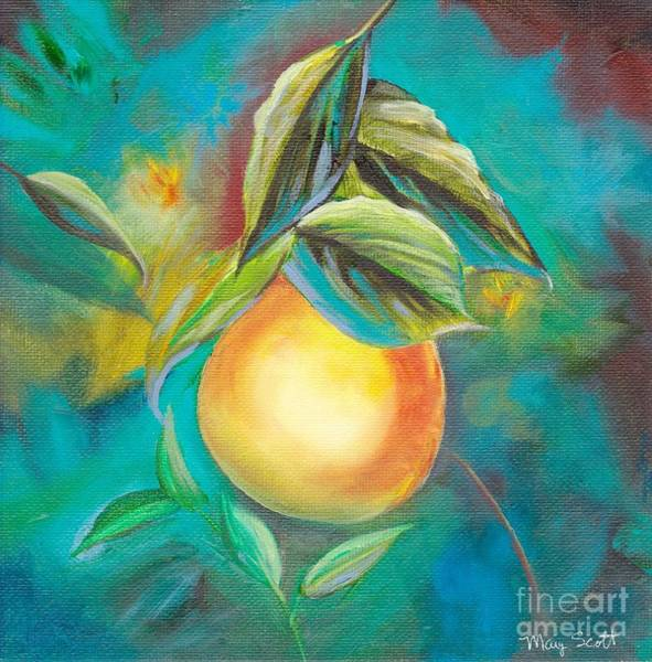 Painting - Orange Tree by Mary Scott