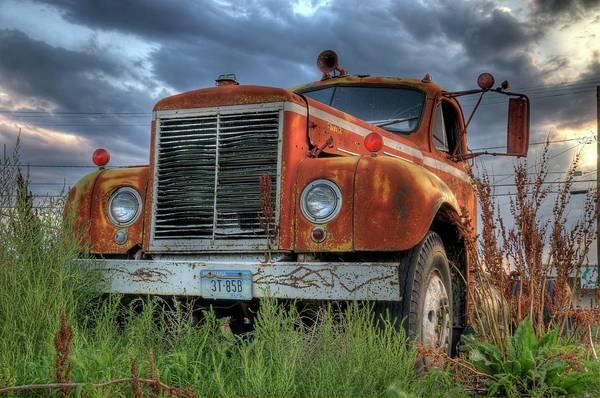 Photograph - Orange Truck by Dave Rennie