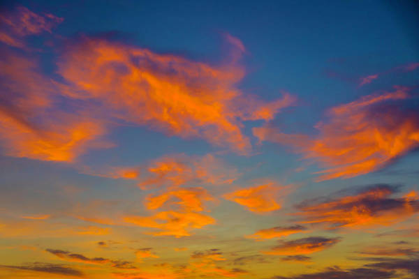 Sun Set Photograph - Orange Twllight Clouds by Garry Gay