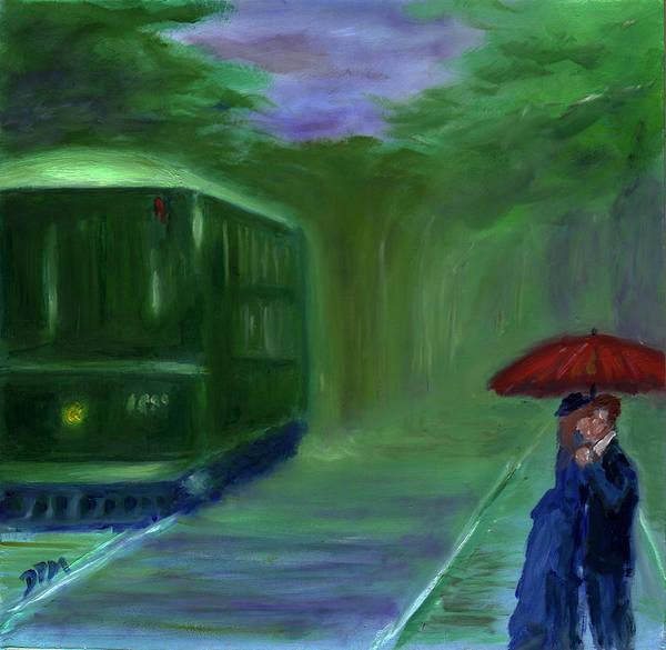 Painting - Orange Umbrella- I by David McGhee