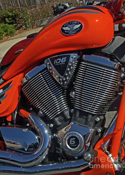 Wall Art - Photograph - Orange Victory Motorcycle by Corky Willis Atlanta Photography