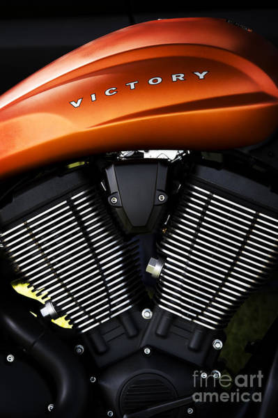 Victory Motorcycle Photograph - Orange Victory by Tim Gainey