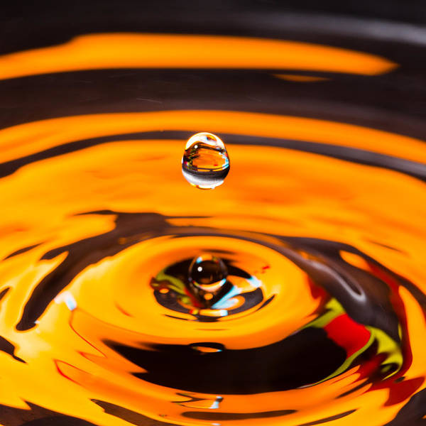Photograph - Orange Water Drop 1 by SR Green