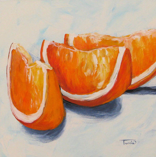 Wall Art - Painting - Orange Wedges by Torrie Smiley