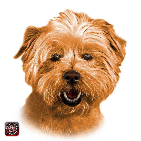 Mixed Media - Orange West Highland Terrier Mix - 8674 - Wb by James Ahn