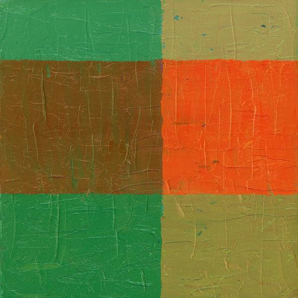 Painting - Orange With Brown And Teal by Michelle Calkins