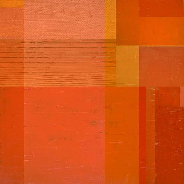 Painting - Orange With Stripes by Michelle Calkins