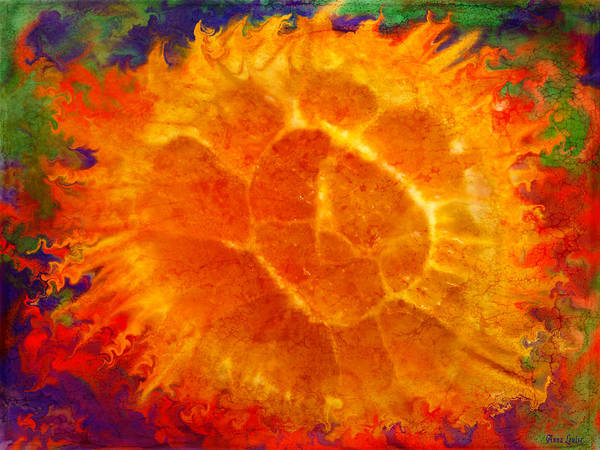 Digital Art - Orange You Glad Abstract by Anna Louise