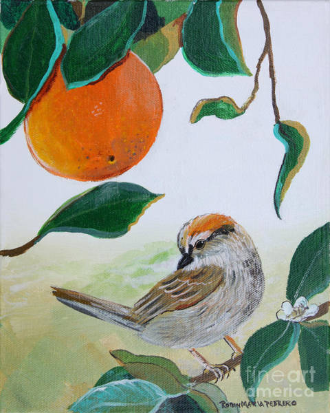 Painting - Orange Zest Bird Painting by Robin Maria Pedrero