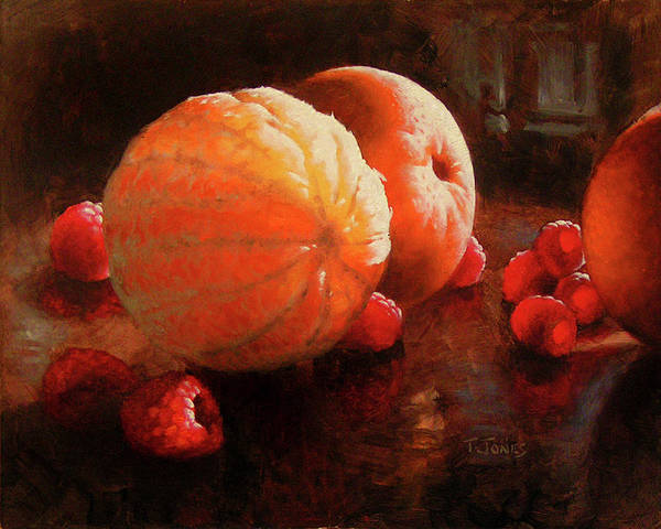 Wall Art - Painting - Oranges And Raspberries by Timothy Jones