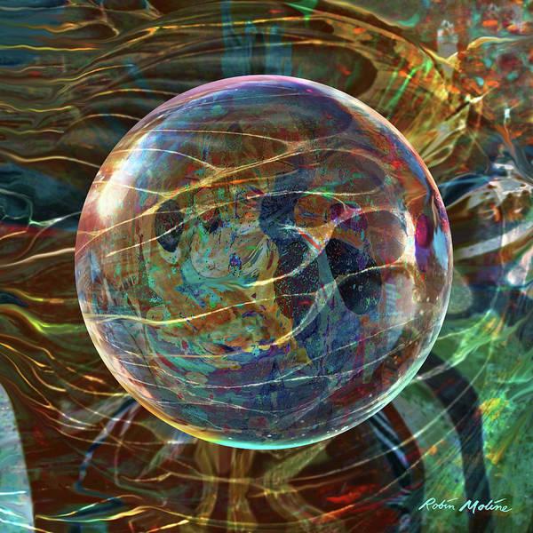Digital Art - Orbital Flow by Robin Moline