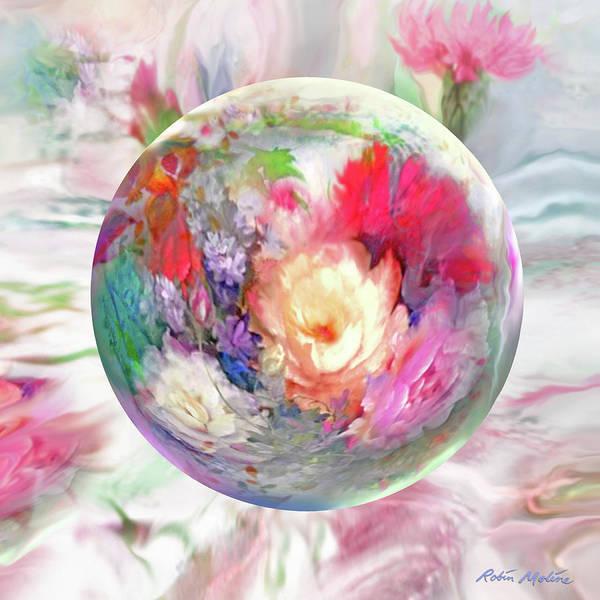 Digital Art - Orbital Spring  by Robin Moline