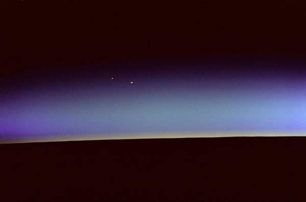 Photograph - Orbital Sunrise With Venus And Mars  by Artistic Panda