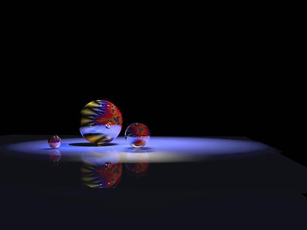 Digital Art - Orbs 3 by Paul Gaj