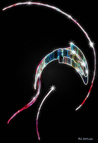 Digital Art - Orca Breaching by RC DeWinter