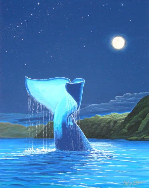 Painting - Orca Fluke by Jeffrey Oldham