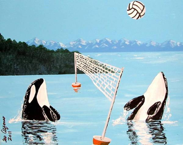 Volley Painting - Orca Whale Volleyball by Teo Alfonso
