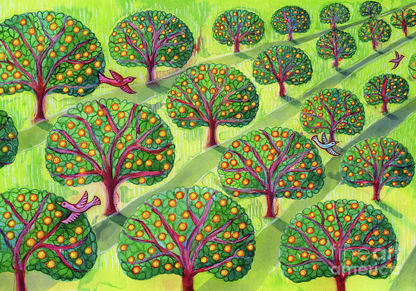 Apple Orchard Painting - Orchard by Jane Tattersfield