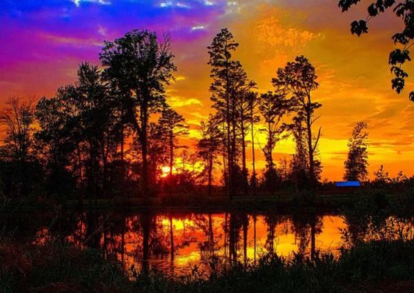 Photograph - Orchard Lake Sunset by Jeff Kurtz