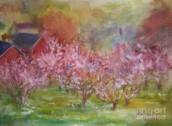 Peac Wall Art - Painting - Orchards In Bloom by B Rossitto