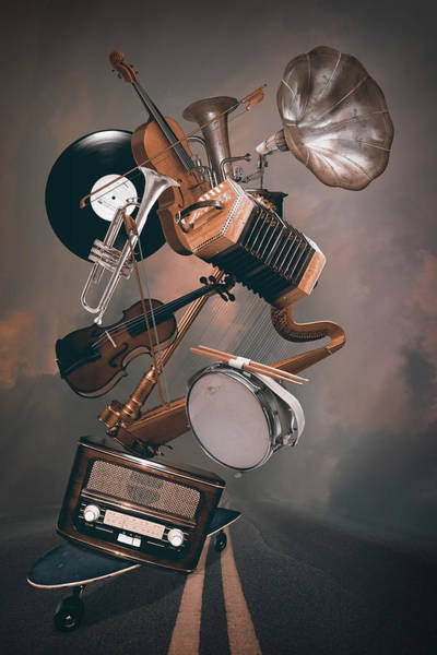 Playful Digital Art - Orchestra On The Way by Mihaela Pater