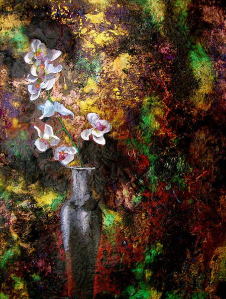 Wall Art - Painting - Orchid 1 by Laura Pierre-Louis
