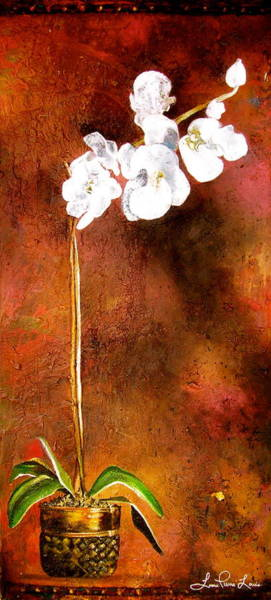 Wall Art - Painting - Orchid 4 by Laura Pierre-Louis