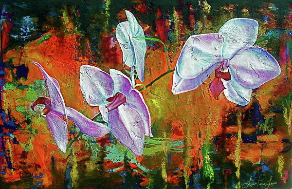 Wall Art - Painting - Orchid A by Laura Pierre-Louis