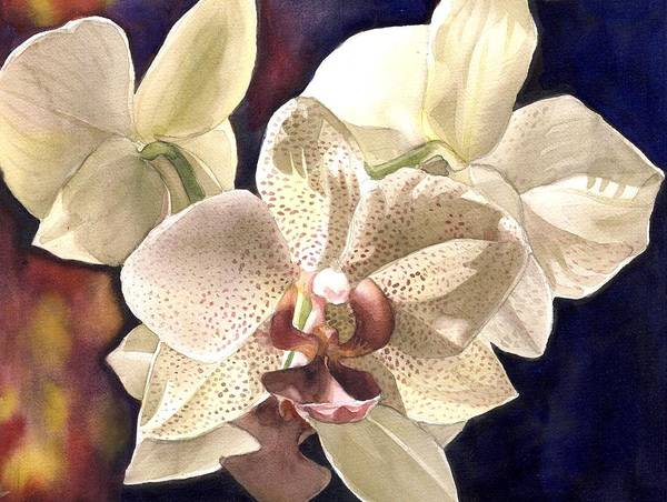 Painting - Orchid At Night by Alfred Ng
