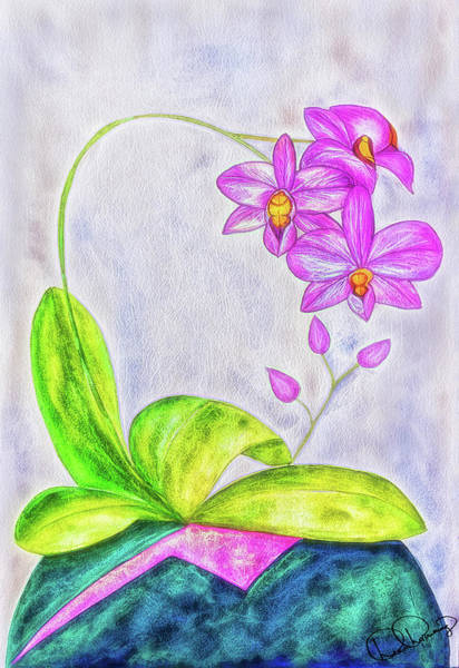 Painting - Orchid Watercolor Painting by Dee Browning