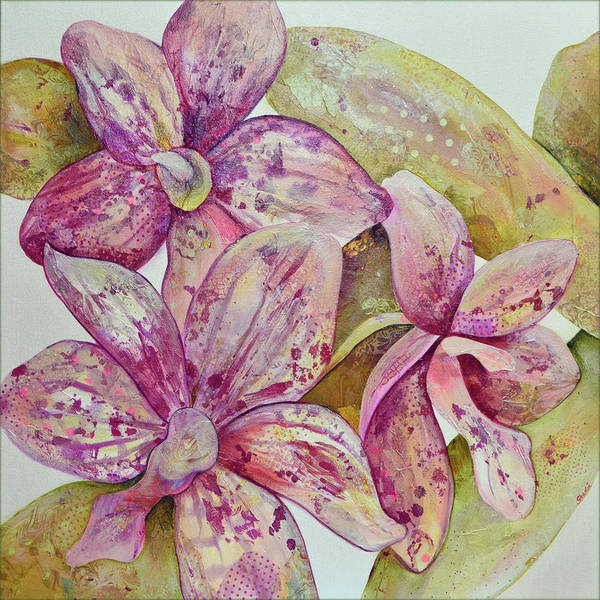 Pomegranates Painting - Orchid Envy by Shadia Derbyshire