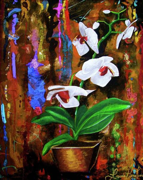 Wall Art - Painting - Orchid Hi by Laura Pierre-Louis