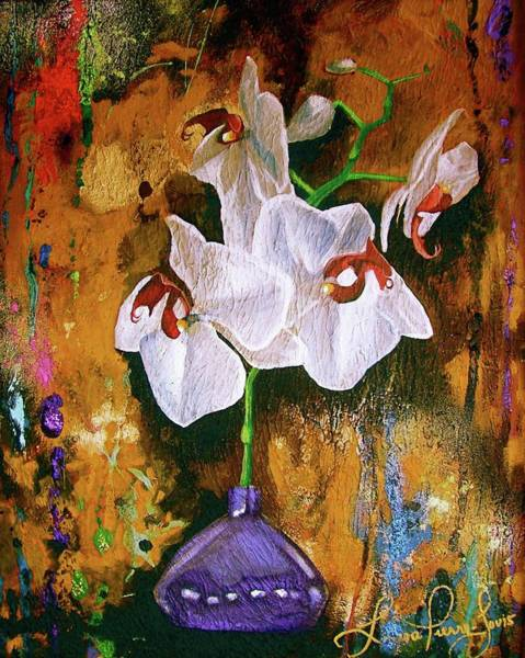 Wall Art - Painting - Orchid Ho by Laura Pierre-Louis