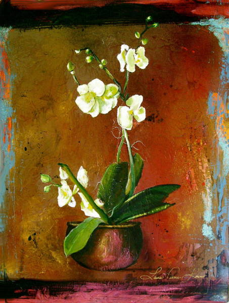 Wall Art - Painting - Orchid  by Laura Pierre-Louis