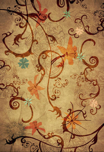 Wall Art - Digital Art - Orchid by Laurence Adamson