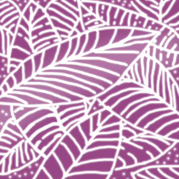 Digital Art - Orchid Leaves Batik by Karen Dyson