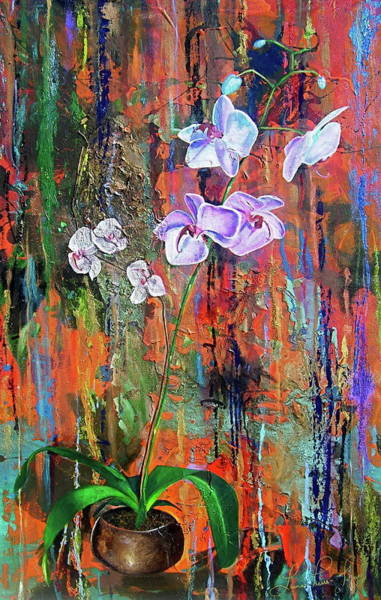 Wall Art - Painting - Orchid O by Laura Pierre-Louis