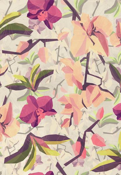 Wall Art - Digital Art - Orchid Pattern by Vess DSign