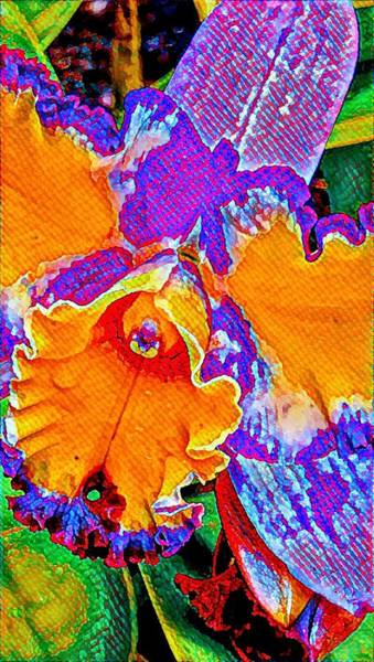 Orchid Psychedelic Art Print