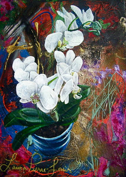 Wall Art - Painting - Orchid You by Laura Pierre-Louis