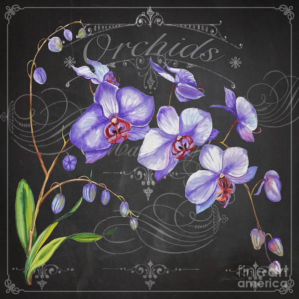 Wall Art - Painting - Orchids-jp3889 by Jean Plout