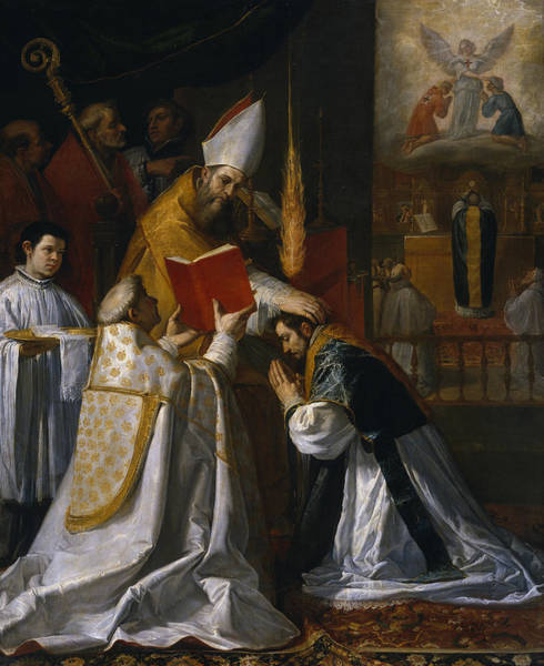 Wall Art - Painting - Ordination And First Mass Of Saint John Of Mata by Vincenzo Carducci