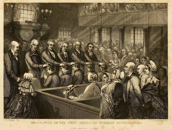 Missionary Photograph - Ordination Of The First American by Everett