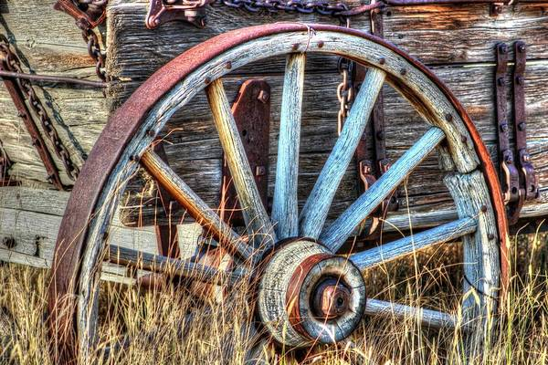 Wagon Wheel Photograph - Ore Road by Vikki Correll